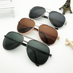 6003 new polarizing sunglasses wholesale men`s met Gold framed tea (polarizing)