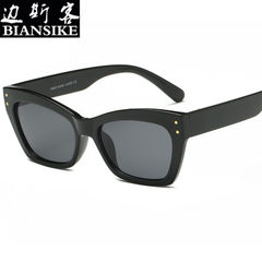 New style sunglasses, European and American style  Black box black grey sheet C4