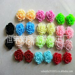 Korea super fiber flower pieces diy manual 4.5cm e Korea powder The color of 4.5 cm flower pieces can be customized