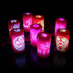 新年发光灯笼 七彩变色手提灯笼 儿童手提灯笼新年元宵节地摊玩具 新年灯笼