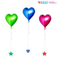 宝诺婚房生日派对气球布置道具 飘空氦气球承重块挂件 彩色吊坠 直径:6CM