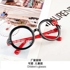 Baby eyeglass frame baby`s round baby frame baby`s Black frame red foot