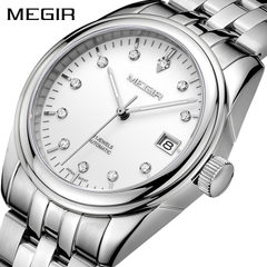 A MEGIR men`s watch, fully automatic mechanical wa Steel band steel shell with white surface