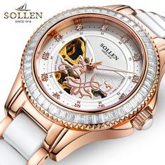 Solon genuine lady watch wholesale fashion waterpr Rose gold