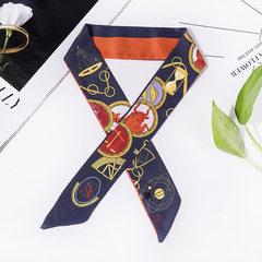 字母 塔罗牌仿真丝小飘带 twilly 细窄小丝带 缎面丝巾绑包包手柄 A 80-100cm