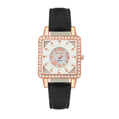 Cross - border ladies fashion diamond watch studen Silvery white