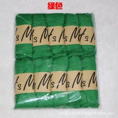 Cotton and hemp scarf women`s pure color artistic  green 65 * 180 cm