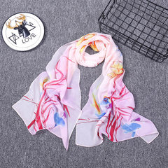 New spring and summer hot style printed chiffon si The X1 160 * 50 cm