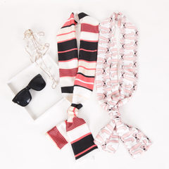 Korean version of small scarf women`s long style s Color diamond
