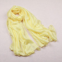 Dutch flax scarf women thin summer silk scarves wo yellow 180 cm