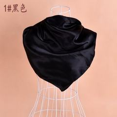New style pure color monochrome satin autumn and w 1 # black 90 * 90