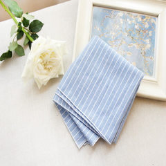 Simple and easy to wear Korean small square scarf  1 # blue 55 cm * 55 cm