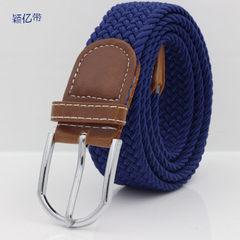 弹力编织腰带 松紧腰带 休闲编织系列裤带帆布松紧男女士针扣皮带 01款 100-135CM