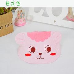 Summer pure cotton baby cool hat cartoon printed b Pink printed lamb The adjustable