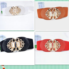 Factory direct selling women`s dress elastic belt  red