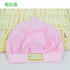 A thin, plain baby hat with a single layer of baby red Neonatal 34-38 cm