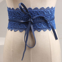 European and American restoring ancient ways hollo blue The lace width is 70 cm long