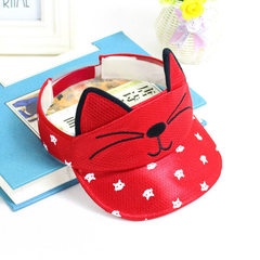 2017 new cat children empty cap 48cm flanged baby  red
