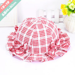 2018 new spring and summer cotton-plaid children f red