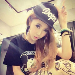New DOPE hip-hop baseball cap han chaoping along t black The adjustable