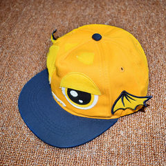 Spring and autumn men`s and women`s hats fashion o yellow Adjustable (6-24 months)