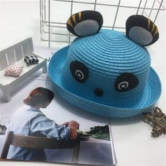 New south Korean children bear straw hat cartoon a 1 little bear blue 50-54
