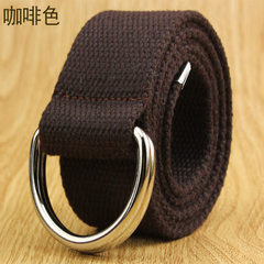 Leisure Korean version of double ring buckle canva red 120 cm