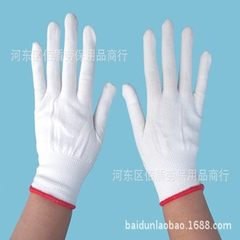Nylon white gloves 13 knitting gloves core wholesa 01