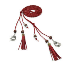 The waist rope lady decorates pure handwork to wea red