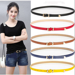 Lady belt fine style decorative women`s belt imita Cross black