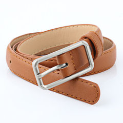 New style ladies day buckle PU imitation leather b Black 90 cm