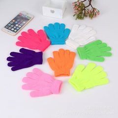 New products bubble special knitting gloves acryli red