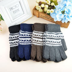 Hot style men`s outdoor knitting gloves warm and f Mixed color