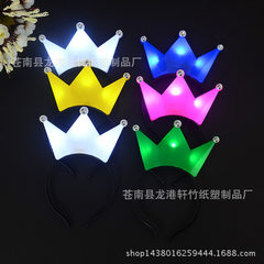 Manufacturer wholesale crown lamp luminous headban pink