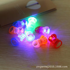 Luminous ring flash simulation diamond ring ring f Bulk mixed color