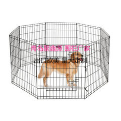 Eight side dog fence 91H*61*8 side pet playground  black A variety of