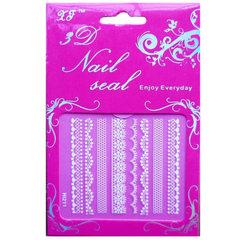 Nail applique white lace nail paste wholesale nail HL216 white