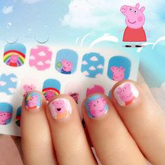 B018-077高质量儿童指甲贴 美甲贴纸 3D指甲贴 小猪佩奇指甲贴纸 冰雪奇缘10款平均分配
