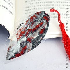Chinese painting Great Wall ye mai bookmark Chines With ribbons