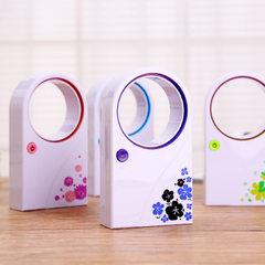usb无叶风扇 超静音夏季usb电池两用小电扇 迷你创意无叶电风扇 粉色