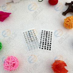 来样定做金属指甲贴 背胶铆钉美甲贴纸 3D美甲贴 立体金属甲贴