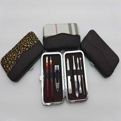 美甲工具七件套 指甲钳美妆剪修甲刀眉夹耳挖鼻毛剪 商务礼品套装