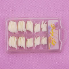 100 pieces of blisters with French nail pieces/fak Transparent French
