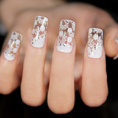 Factory direct sale lace nail paste with diamond n 1
