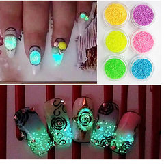 Manicure accessories night light sand flow sand DI pink