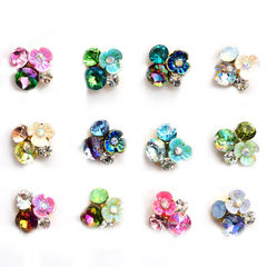 Nail decoration flower pile drill DIY alloy bump p K1083