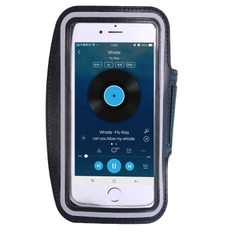 4到6寸手机通用臂带 i7plus手机套双扣调节触屏跑步运动臂包批发 黑色 中号(5寸以下手机通用)