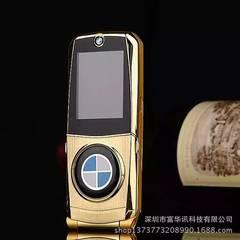 热销个性汽车手机宝马760男士学生儿童翻盖金属手机特价批发 银色