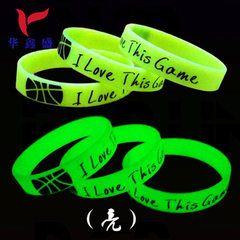 Luminous silicone bracelet made to concert fluores green