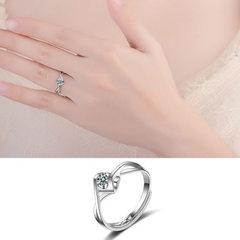 Ikea angel heart ring female Korean version of the J41 (adjustable opening) Adjustable opening